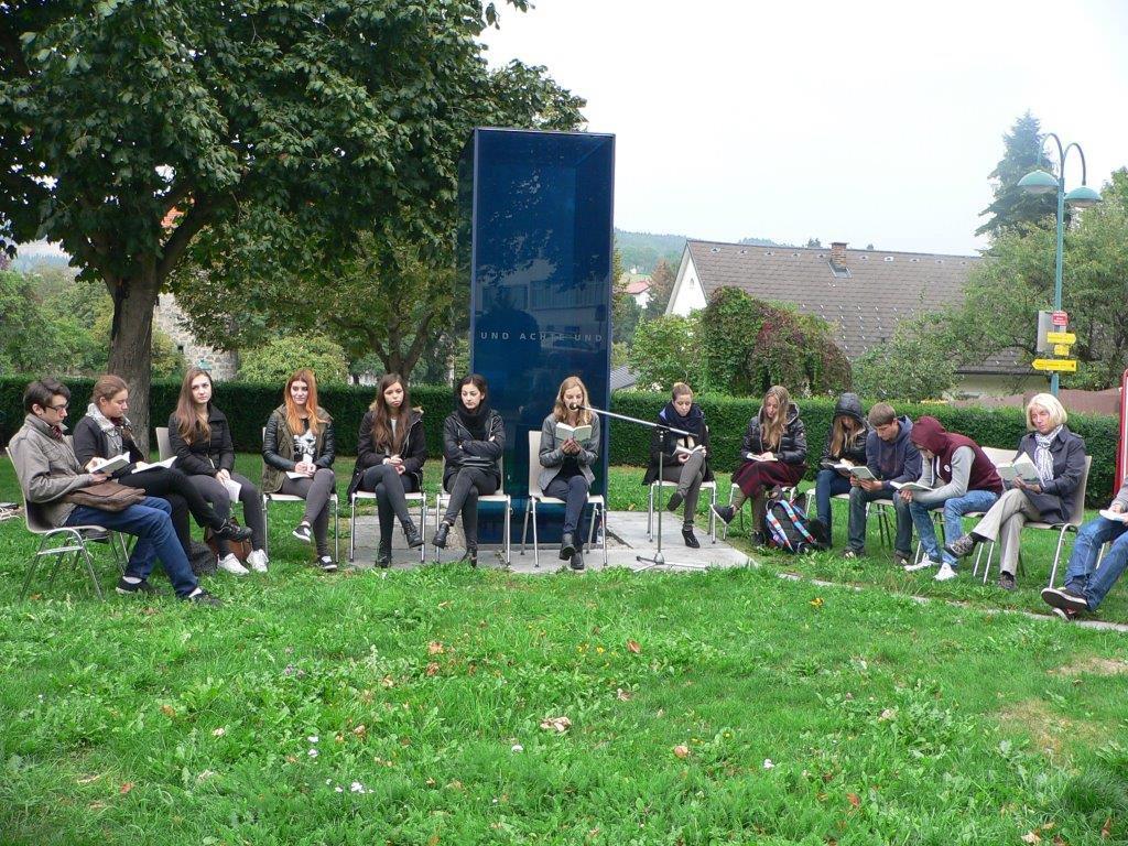 Lesung beim Mahnmal am Linzertor